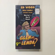 Glen Or Glenda [VHS] Ed Wood Jr. (Actor, Director, Writer), Bela Lugosi (Actor) 1952 Ed Wood, A Boutique, Kitsch, Jr, Writer, Archive, Actors, Black And White, Movies