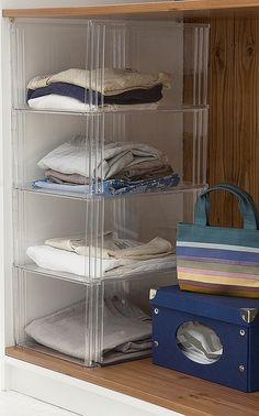 Great Our Clear Acrylic Sweater Storage Open Cubbies (4 In Photo) Stack As High As