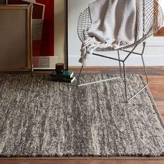 Sweater Wool Rug - Charcoal | west elm 3 x 5 $99 sale