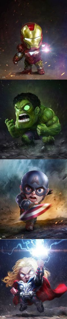 Someone put waayy to much effort into these chibi avengers Marvel Avengers, Marvel Heroes, Baby Avengers, Bd Comics, Marvel Dc Comics, Chibi Marvel, Comic Books Art, Comic Art, Image Tatoo