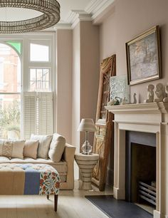 Farrow & Ball\'s Setting Plaster Sitting Room | Sitting rooms, Room ...
