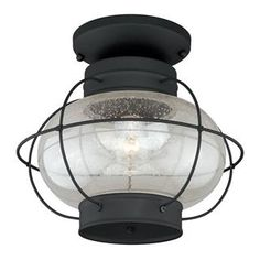 """Check out the Vaxcel Lighting T0144 Chatham 13"""" 1 Light Outdoor Semi Flush Mount priced at $106.00 at Homeclick.com."""