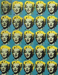 Vijfentwintig gekleurde Marilyns ~ 1962 ~ Acryl op doek ~ 209 x 170 cm. ~ Modern Art Museum of Fort Worth, Fort Worth ~ Verzameling Benjamin J. Tillar