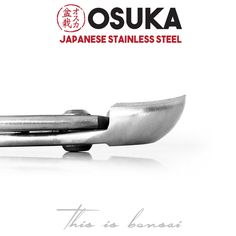 • OSUKA Bonsai Spherical Branch Cutters (Round head branch cutters) • Length – 205mm (8″) • Finish – Silver • Material – High Quality Japanese Stainless Steel Garden Trowel, Garden Tools, Garden Supply Online, Bonsai Tools, Japanese Sword, Tools For Sale, Gardening Supplies, Concave, Tools And Equipment