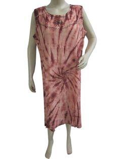 Amazon.com: Brown Tie & Dye Boho Women Cover up Dress Bohemian Clothing Xl: Clothing