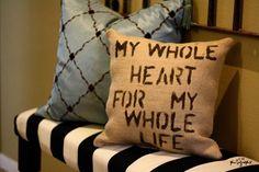 DIY Burlap Pillow DIY Burlap DIY Crafts