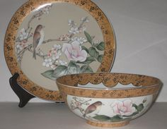 Jay Imports Asian Fine Porcelain Bowl & Plate Mid by slockwoo