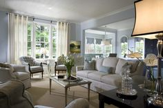 beautiful blue living rooms | Houzz Master Bedrooms