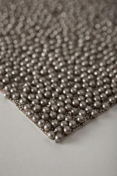 Silver Luxury Pearls Wallpaper - Custom handmade glass bead wallpaper