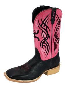 Twisted X Women's Hooey Boots - Black / Neon Pink