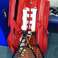 Pinを追加しました!/深夜の修行なう 初めてのメンズシングルスクラス 6gの重さを感じてビックリしてるなう #tennis #テニス