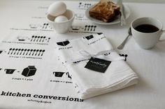 Kitchen Conversions Floursack Tea Towel