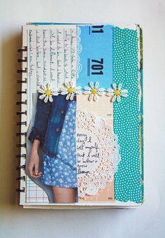 Art journal inspiration ideas sketchbooks smash book ideas for 2019 Art Journal Pages, Journal Covers, Art Journals, Journal Cards, Junk Journal, Sketchbook Cover, Arte Sketchbook, Fashion Sketchbook, Sketchbook Inspiration