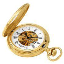 Charles-Hubert, Paris Gold-Plated Mechanical Pocket Watch