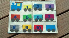 Train Counting Quiet/Felt Book, train party gift, busy book, train cars, montessori toy, train christmas gift, stocking stuffer on Etsy, $18.00