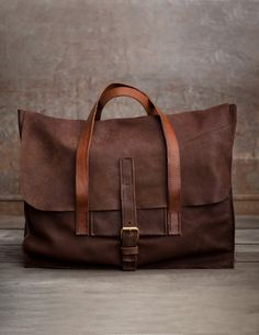 Men's Leather Travel Bag -Orazio, by Peter Nappi - Peter Nappi on Taigan