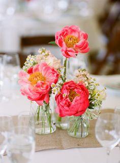 Bright pink floral decorations: http://www.stylemepretty.com/2014/11/24/rustic-elegance-at-cornerstone-sonoma/ | Photography: Josh Gruetzmacher - http://joshgruetzmacher.com/