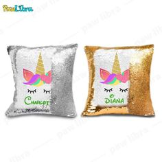 Personalized Sequin Pillow Mermaid Pillow