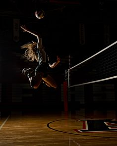Volleyball Action shot-love love love how it's just her, especially if it was a feature story.