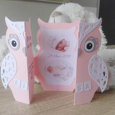 Announce card thank you baptism invitation Baby Cards, Kids Cards, Diy And Crafts, Paper Crafts, Pop Up Cards, Folded Cards, Homemade Cards, Diy Gifts, Cardmaking