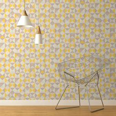 Papier peint vinyle expans sur intiss thalie jaune for Moquette jaune moutarde