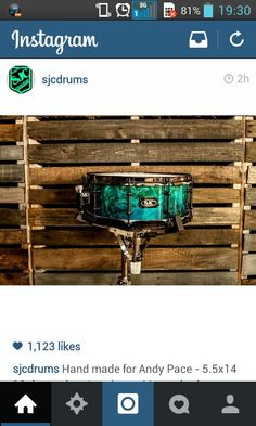 The sexiest looking snare ive ever seen. SJC Drums.