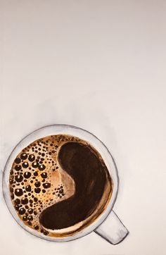 coffee by on DeviantArt Food Painting, Coffee Painting, Drawing Coffee, Watercolor Food, Food Drawing, Diy Canvas Art, Coffee Art, Iced Coffee, Art Drawings Sketches