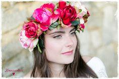 Haarkranz, Blumenkrone, Haarschmuck, Headpieces, Kranzverliebt http://de.dawanda.com/product/81986431-haarkranz-braut-hochzeit-brautkranz-rosalia