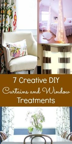 7 Creative DIY Curtains and Window Treatments