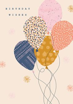 Birthday card with balloons. Happy Birthday Signs, Best Birthday Wishes, Happy Birthday Messages, Happy Birthday Images, Happy Birthday Greetings, Birthday Pictures, Cumpleaños Diy, Birthday Wallpaper, Birthday Posts