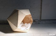 homemade-modern diy -  dog house. i totally want to do this for my cats!