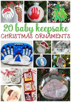 Adorable Christmas ornaments for baby and toddlers! These 20 keepsakes will make baby's first Christmas special.