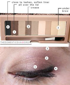 The Domestic Diva » Valentine's Day: Subtle Brown Smokey Eye Makeup Look