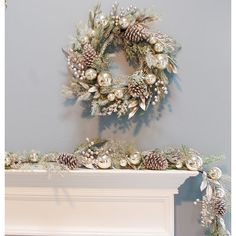 Front Door Decor Discover The Holiday Aisle 6 Christmas Ornament Pine Garland Christmas Decorations Clearance, Colorful Christmas Decorations, Silver Christmas Decorations, Christmas Centerpieces, Classy Christmas, Modern Christmas, Elegant Christmas Decor, Champagne Christmas Tree, Rose Gold Christmas Tree