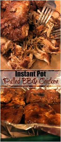 Instant Pot Pulled BBQ Chicken | Aunt Bee's Recipes