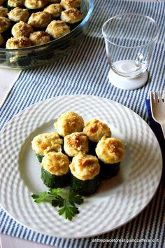 zucchine ripiene di tonno e ricotta - ricotta stuffed zucchini