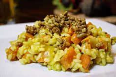 Eat.Pray.Juice.: sweet potato risotto with rosemary and spicy maple...