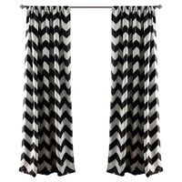 Maeve Curtain Panel in Black (Set of 2)