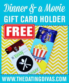 Give someone the gift of a date night.  Dinner and a movie gift card holders!!!