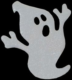 """Ghost Cut Out for Halloween Centerpieces. Made of durable 3/16"""" thick foam board. Great for centerpieces or wall displays. http://www.awesomeevent.com/Ghost-P5142.aspx"""