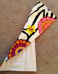 Reversible Zebra and Flowered Printed Seat Belt by cuddlingcuties, $8.00