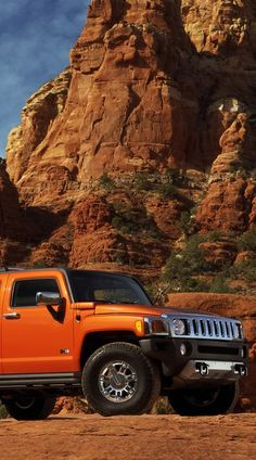 Orange Hummer in the desert Coral Orange, Orange Color, My Dream Car, Dream Cars, Girls Driving, Hummer H3, 4x4 Off Road, Orange You Glad, Orange Crush