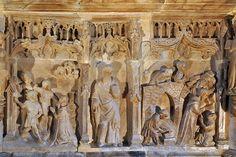 Catedral de Santo Domingo de La Calzada,relieve.  La Rioja,España