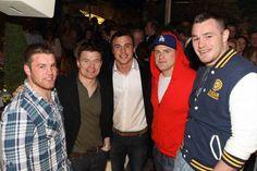Sean O'Brien, Brian O'Driscoll, Tommy Bowe Jamie Heaslip and Cian Healey
