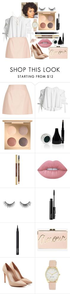 """Untitled #94"" by kristine9595 ❤ liked on Polyvore featuring River Island, Caroline Constas, Avani, Lime Crime, tarte, MAC Cosmetics, NARS Cosmetics, BCBGMAXAZRIA, Alexander McQueen and Nine West"