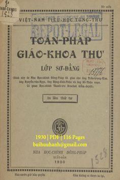 Toán Pháp Giáo Khoa Thư Lớp Sơ Đẳng (NXB Nha Học Chính 1930) - Trần Trọng Kim, 116 Trang | Sách Việt Nam Event Ticket