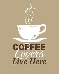 Coffee Lovers Live Here - Art Print Coffee di HappyHomeDecorPrints