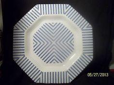 Independence Interpace Pillar Talk Dinner Plate Blue Stripes Japan Vintage Dinne