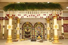 Fiesta Decorations, Wedding Stage Decorations, Garland Wedding, Flower Decorations, Wedding Backdrop Design, Wedding Stage Design, Wedding Designs, Diwali Inspiration, Indian Wedding Stage