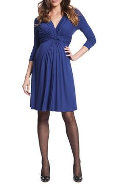 Free shipping and returns on Seraphine 'Jolene' Front Knot Maternity Dress at…